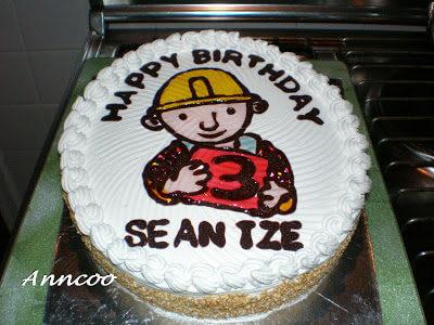 Birthday cake for Seantze 3rd birthday
