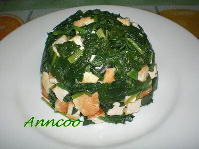 Bean Curd Spinach Dome