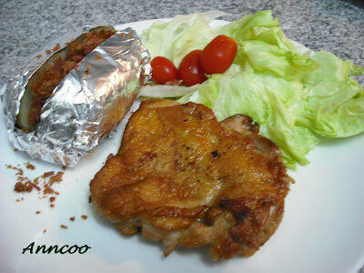 Chicken Chop with Baked Potato