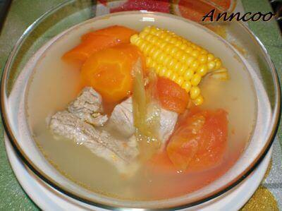 Kam Chye with Pork Ribs Soup 咸菜排骨汤