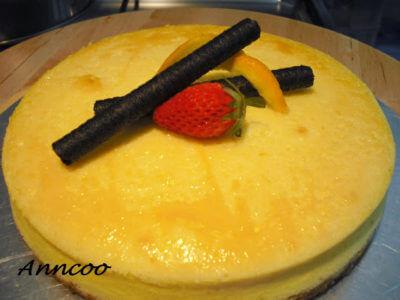 Orange Baked Cheesecake