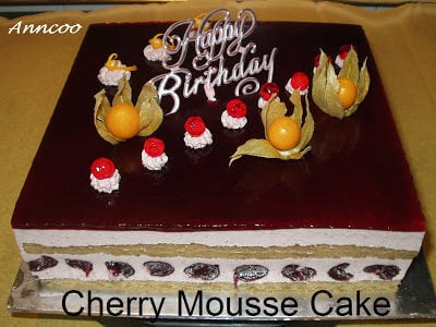 Cherry Mousse Cake