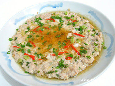 Steamed Minced Pork with Dong Cai 冬菜蒸猪肉