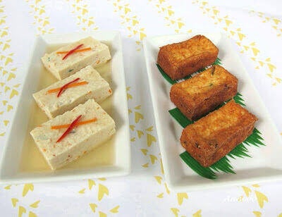 Guest Post: Tofu with Prawns – Steamed and Deep Fried