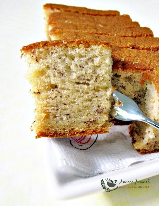 Banana Sponge Cake Anncoo Journal