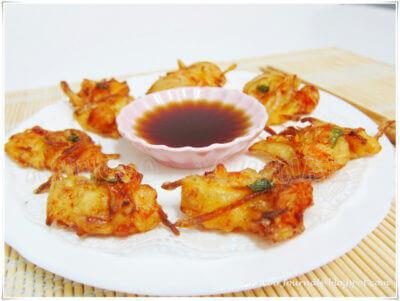 Prawn Fritters with Veggie
