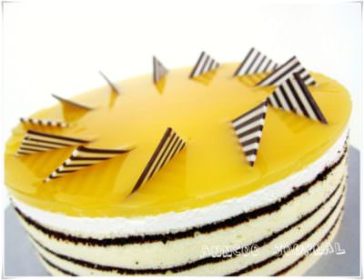 Mango Mirror Cake