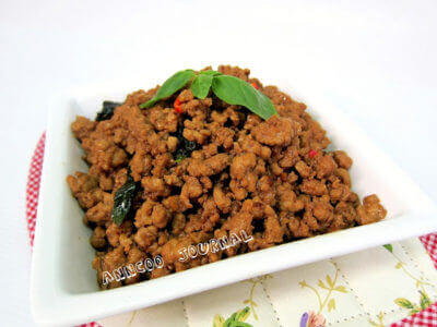 Stir Fried Pork with Basil Leaves