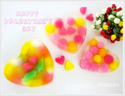 Heart Shaped Jelly for Valentine's Day