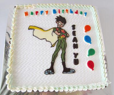 Birthday Cake ~ Robin Teen – Titans