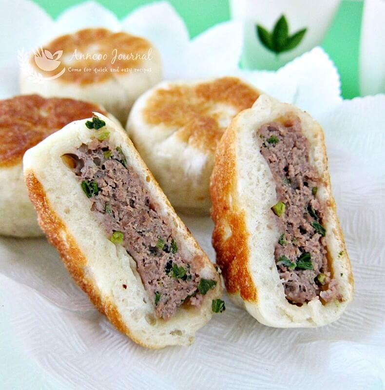 pan fried beef bun
