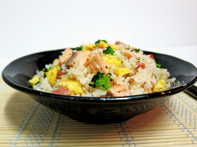 Salmon fried rice anncoo journal ccuart Image collections