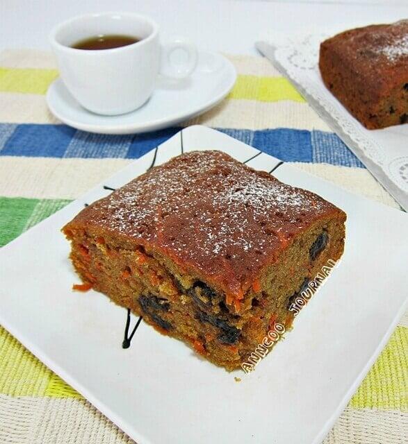 orange carrot cake
