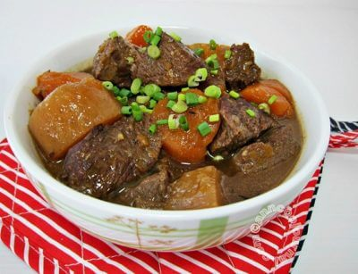 Stewed Beef with Carrot and White Radish