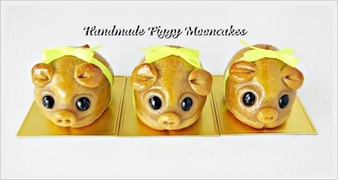 handmasde piggy mooncakes