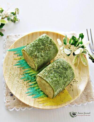 Sweet Potato Green Tea Pancake Roll 甜薯绿茶班戟卷