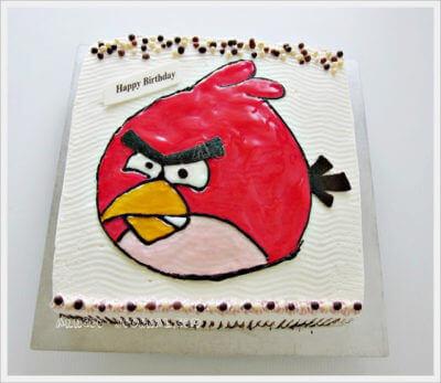 Birthday Cake ~ Angry Bird and Batman