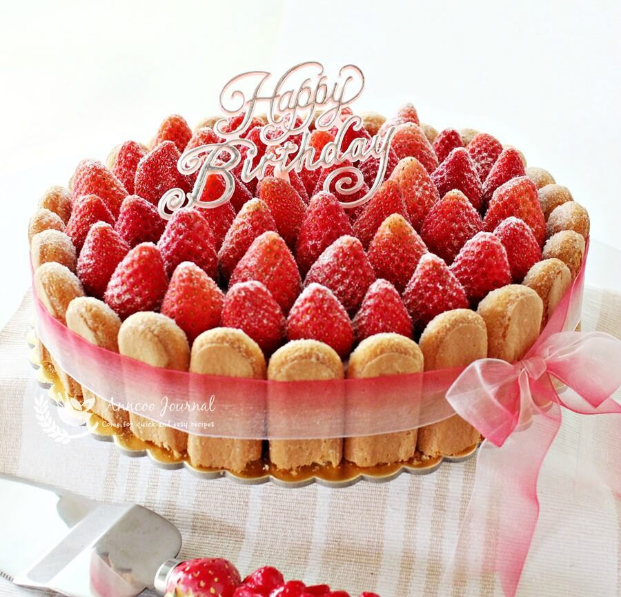 Low Sugar Strawberry Cake