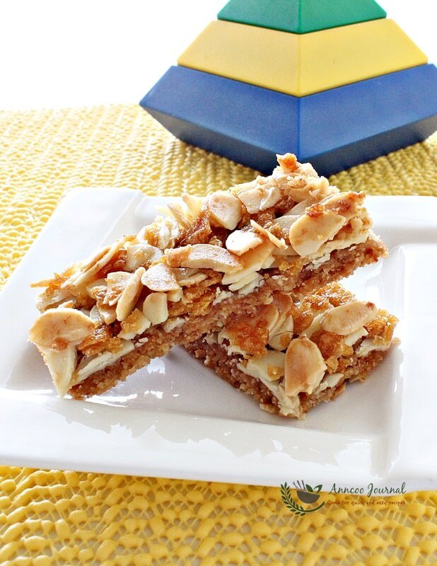 almond cookie bar