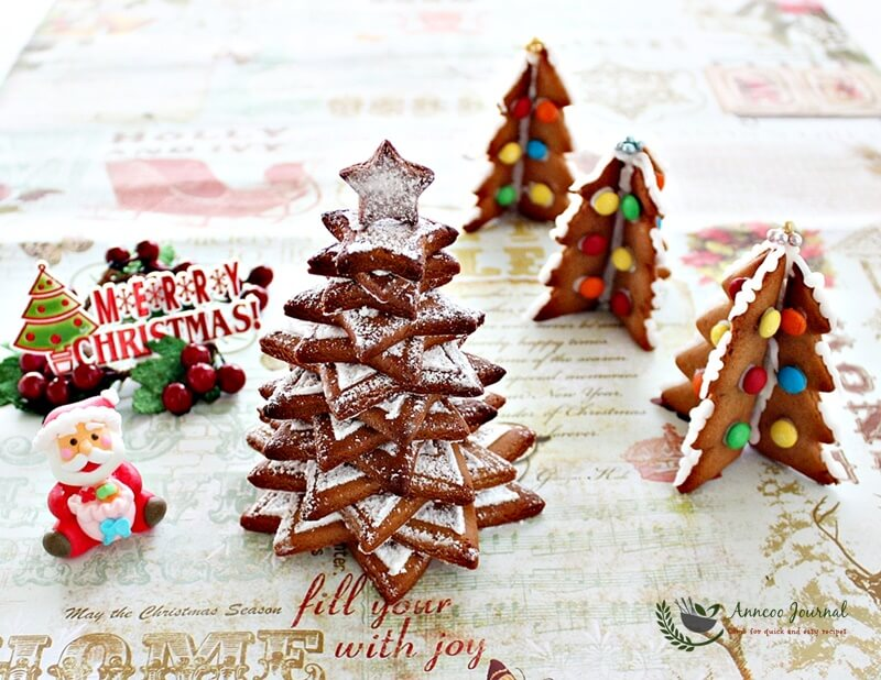 Gingerbread Christmas Tree Cookies Anncoo Journal