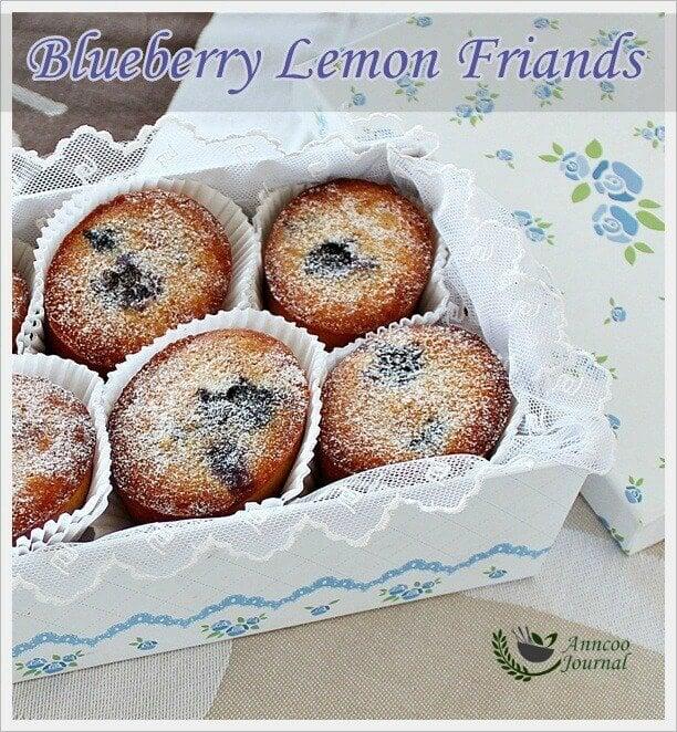 blueberry lemon friands