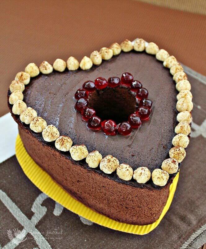 chocolate nutella chiffon cake