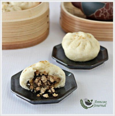 Steamed Meat Bao with Preserved Vegetables 梅菜肉包子