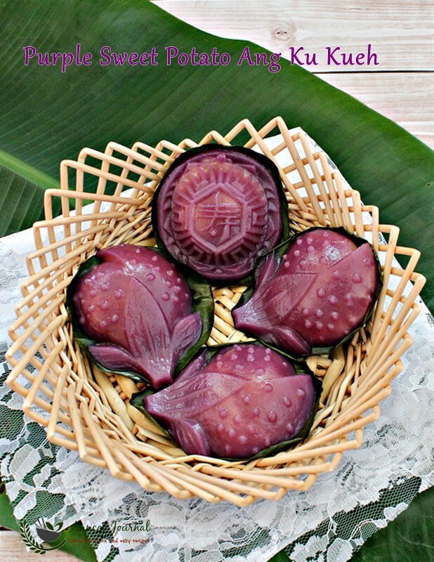 purple sweet potato ang ku kueh