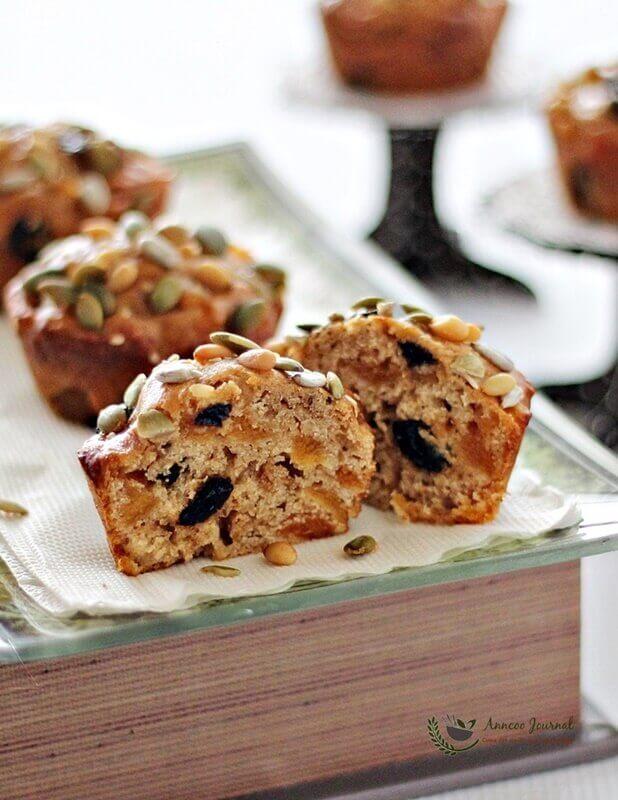 mini fruit cakes with bread flour