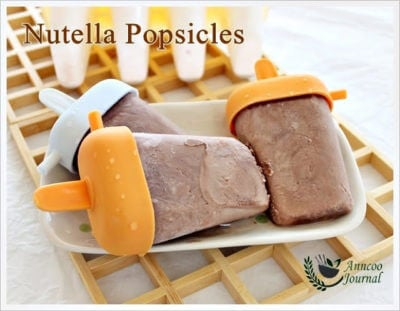 Nutella Popsicles 榛子酱冰棒