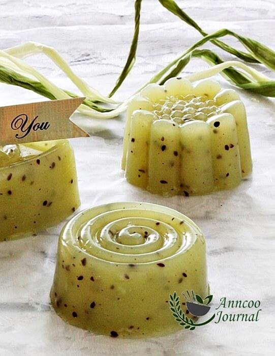 kiwifruit kanten jelly