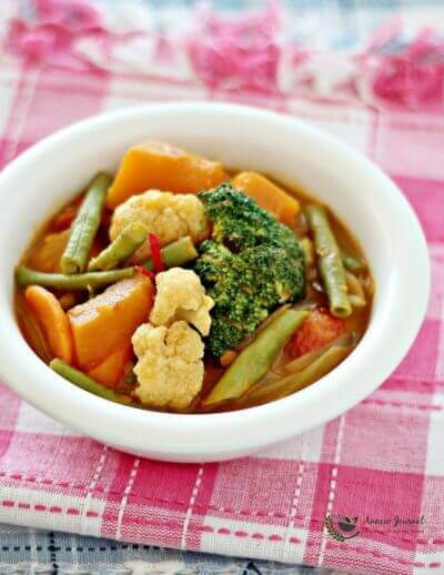 Simple Vegetable Curry 简易版咖喱杂菜