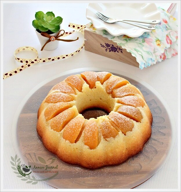Bundt Cake With Canned Peaches