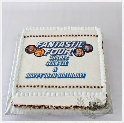 Birthday Cake – Fantastic Four & Hazelnut Chocolate Cake
