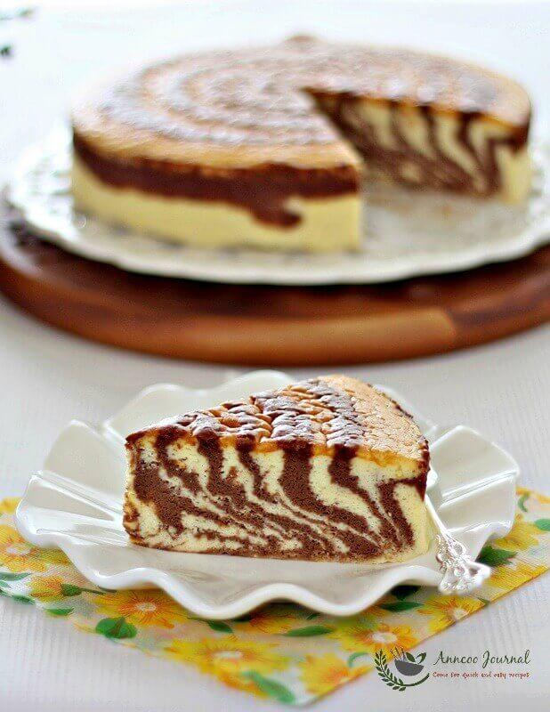 Soufflé Japanese Zebra Cheesecake