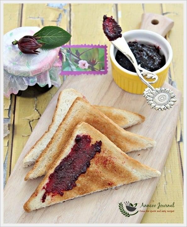 homemade roselle jam
