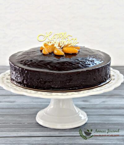 Chocolate Orange Fudge Cake 巧克力香橙蛋糕