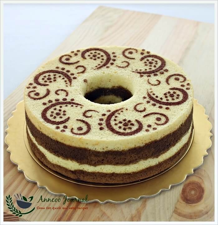orange choc chiffon cake 018