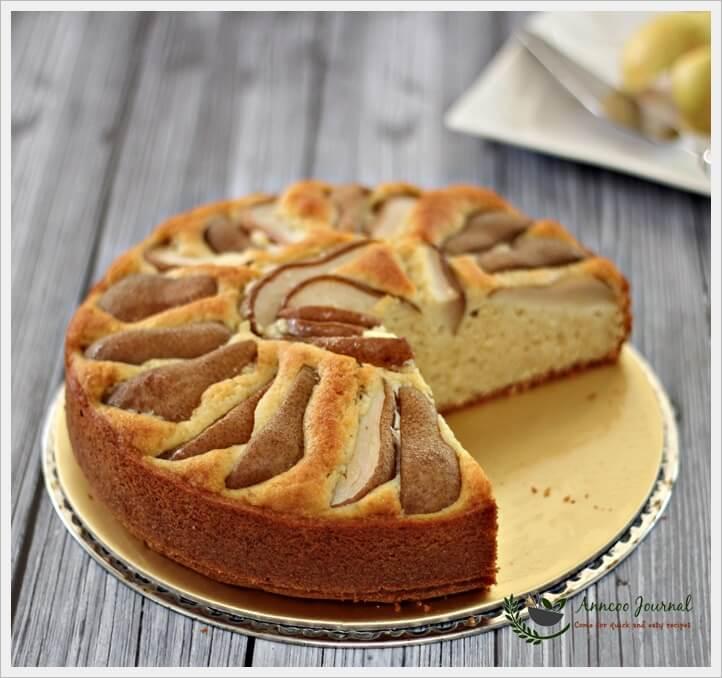 pear and hazelnut cake 041