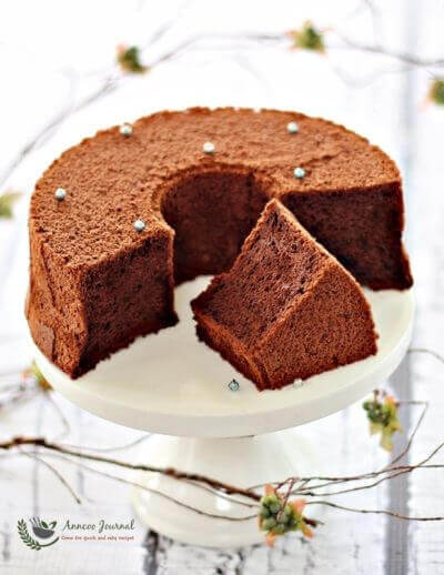 Japanese Dark Pearl Chiffon Cake 日式黑珍珠戚风蛋糕