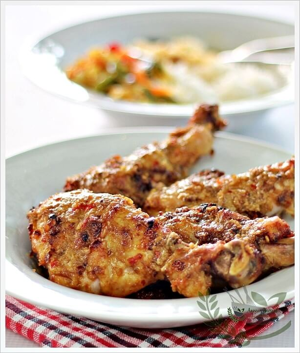 ayam percik (baked chicken in coconut sauce)