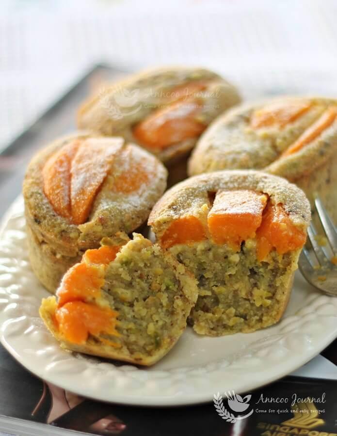 mango and pistachio friands