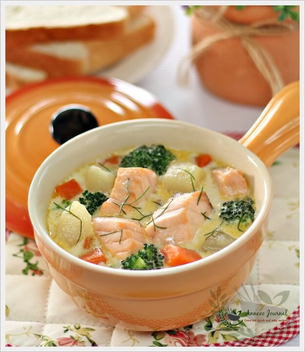 Fish stew with salmon and vegetables anncoo journal for What vegetables go with fish
