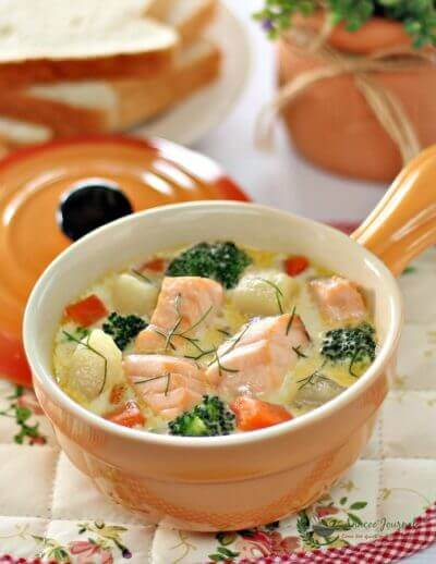 Fish Stew With Salmon and Vegetables 蔬菜闷三文鱼
