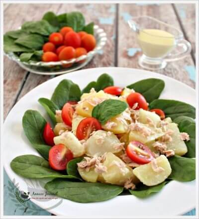 Tuna Potato Salad with Wasabi Dressing 金枪鱼马铃薯沙拉
