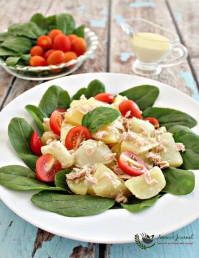 Tuna Potato Salad with Wasabi Dressing 吞拿鱼马铃薯沙拉