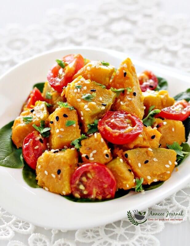 miso pumpkin salad