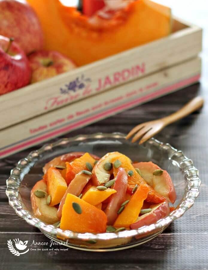 roasted pumpkin and salad