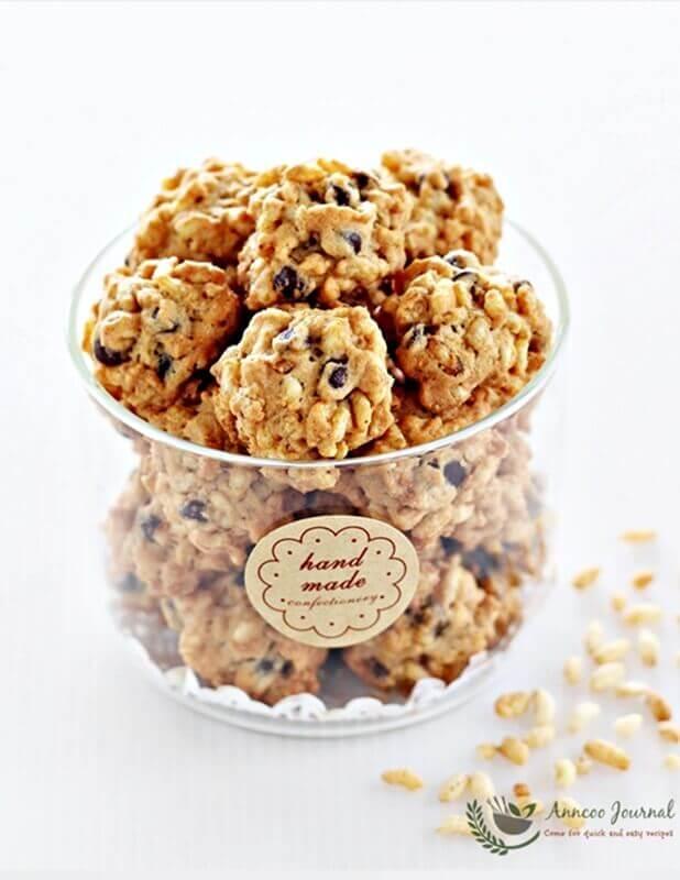 Bubble Rice Cookies 泡泡米曲奇 Anncoo Journal