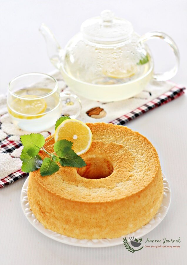 Honey Lemon Chiffon Cake Recipe